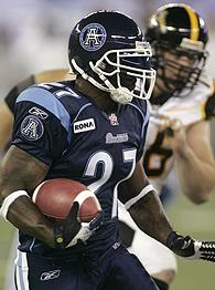 Ricky Williams Toronto Argonauts Uniform Photo