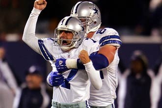 Martin Gramatica Celebrates After Kicking Winning Field Goal in Cowboys Debut