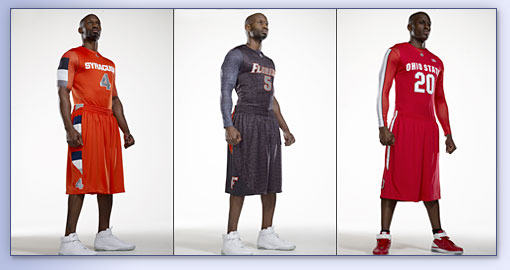 NCAA Uniform Basketball Design Jerseys http://sports.outsidethebeltway.com/2007/03/ncaa-demos-new-basketball-uniforms/