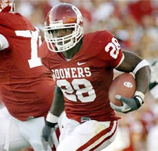 Adrian Peterson Photo Oklahoma Sooners Uniform