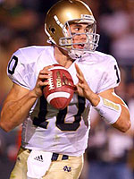 Brady Quinn Notre Dame Passing Photo