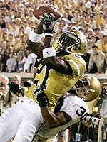 Calvin Johnson Photo Georgia Tech Uniform