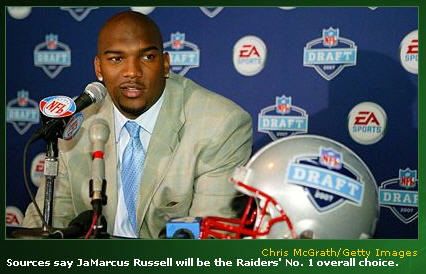 JaMarcus Russell Photo ESPN Draft Day Banner