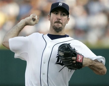 Justin Verlander No-Hitter Photo Detroit Tigers starter Justin Verlander pitches against the Milwaukee Brewers in the fourth inning of an interleague baseball game Tuesday, June 12, 2007 in Detroit. (AP Photo/Duane Burleson)