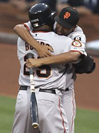 Barry Bonds 755th Home Run Photo Hugs Son Nikolai