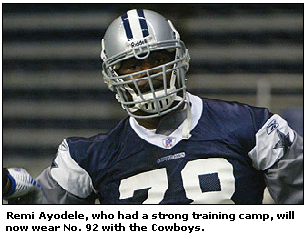 Remi Ayodele Dallas Cowboys Photo