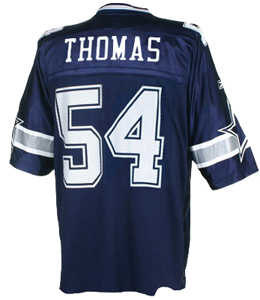 The Zach Thomas replica jersey is priced at $74.99 at dallascowboys.com